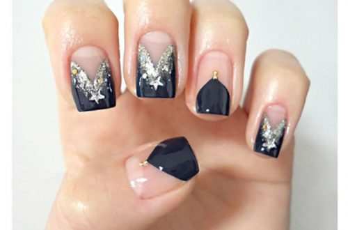 Gorgeous Tuxedo Black French Manicure Tutorial