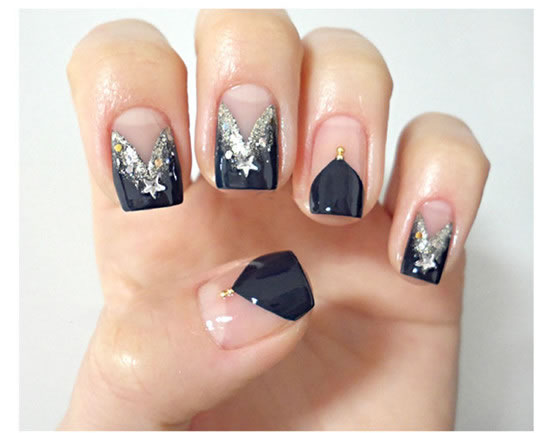Gorgeous Tuxedo Black French Manicure Tutorial