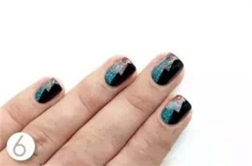 Shiny Dark Nail Steps Tutorial