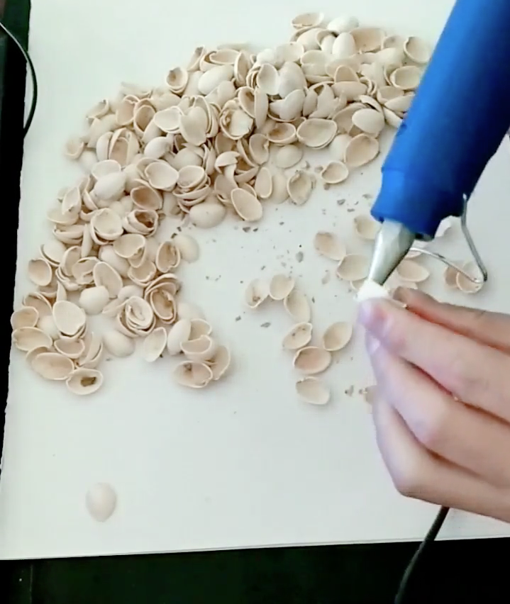 DIY Tree using Pistachio shells