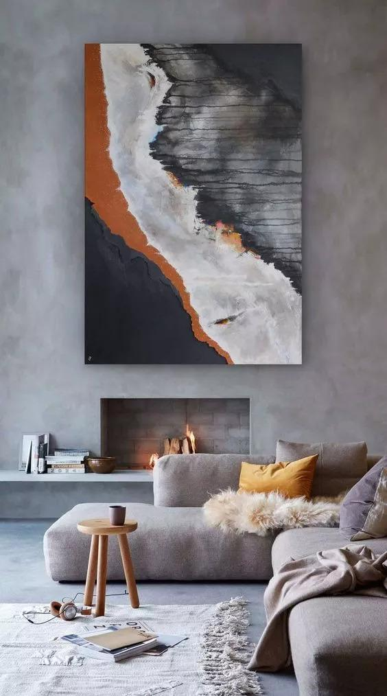 52 Inspiring Canvas Wall Art Decor to Make Your Living Room Look Amazing | #canvas #wall #art #decor #livingroom