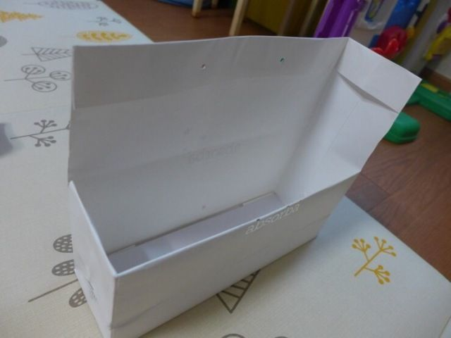 make storge boxes with paper bags is easy