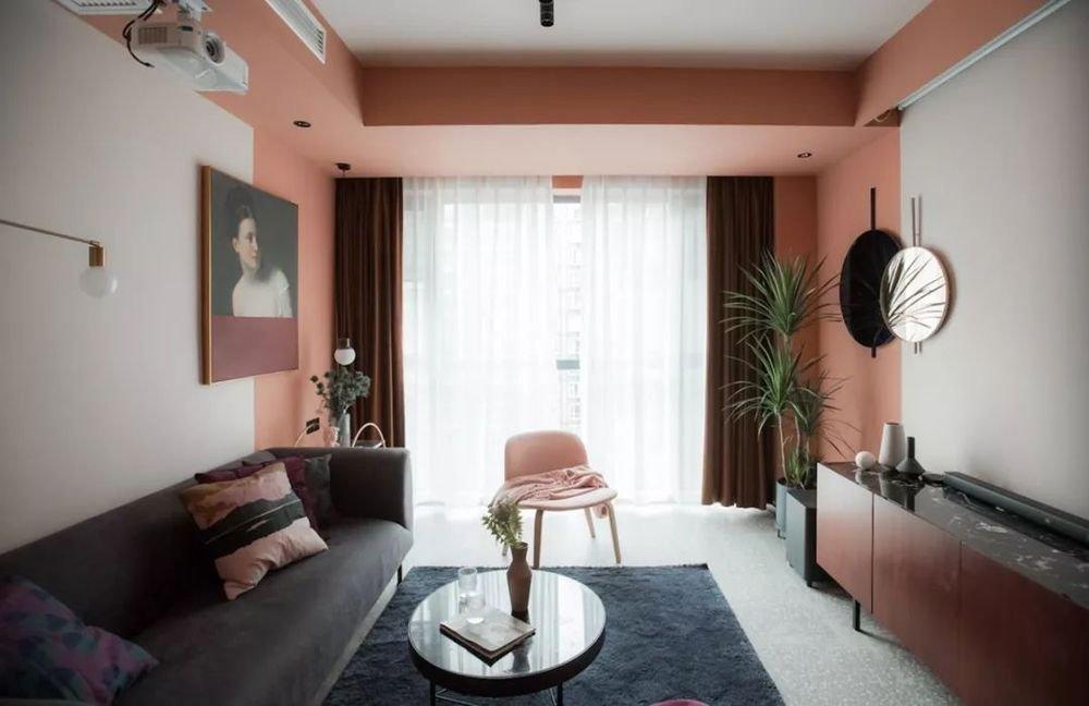 Pink living room design #livingroomdesign #livingroom #pinklivingroom