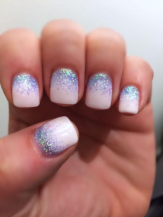 35 Dreamlike Unicorn Nail Designs You will Like nails, nail design, unicorn nails, pink nails
