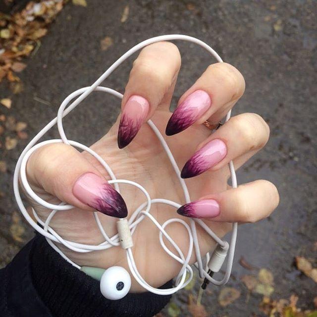 36 Wonderful Ombre Nail Art Design Ideas nails;atlnails;atlantanails;alpharettanails ;atlnailtech;longnails;coffinnails;marblenails ;ombrenails ;longnails;shiningclaws