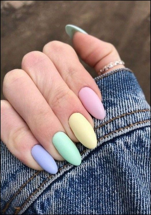 36  Colorful Nails Give You Different Feelings nails, nail design, colorful nails, candy like