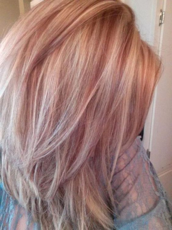 35 Charming Rose Gold Hair Colors Rose gold hair,hair colors,hairstyle ideas.